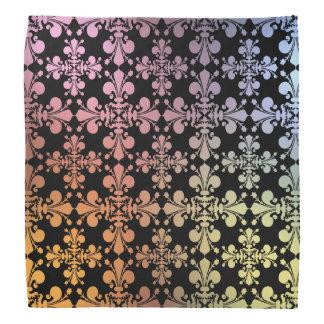 Värme och kyla geometrisk fleur de lis för färger bandana