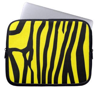 Värmebeständig glass hobsplashback för gul sebra laptopskydd