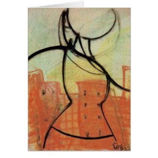 """""""Värmer staden"""" pastellfärgade måla Notecard, Brad Hälsningskort"""