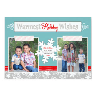 Varmmast blått för kort för foto för 12,7 x 17,8 cm inbjudningskort