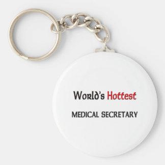 Varmmast medicinsk sekreterare för världar rund nyckelring
