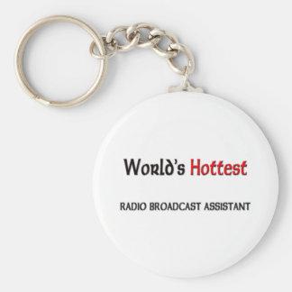 Varmmast världar radiosände TV-sändningassistenten Rund Nyckelring