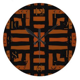 Varmt afrikanskt stam- konstverk stor klocka