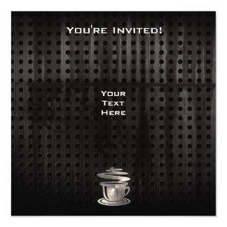 Varmt kaffe; Coola Fyrkantigt 13,3 Cm Inbjudningskort