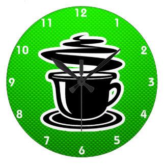 Varmt kaffe; Grönt Stor Klocka
