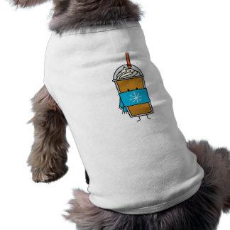 Varmt kaffe med tanktop för SnowflakeScarfvovve Hundtröja