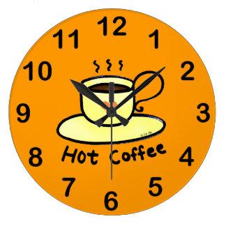 varmt kaffe stor klocka