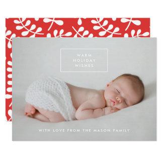 Varmt kort för foto för helgdagönskemålhelgdag 12,7 x 17,8 cm inbjudningskort