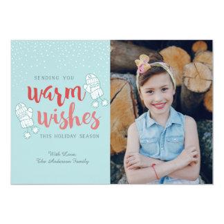 varmt kort för önskemåljulfoto, helgdagkort 12,7 x 17,8 cm inbjudningskort