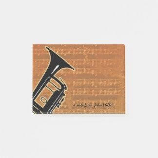 Varmt tonar trumpeten post-it block
