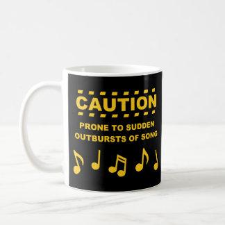 Varna benäget till plötsliga utbrott av sången kaffemugg