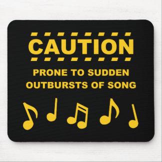 Varna benäget till plötsliga utbrott av sången musmatta