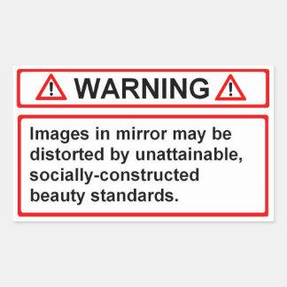 Varna för skönhetnormal rektangulärt klistermärke