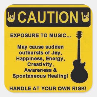 Varna klistermärken för musikälskare