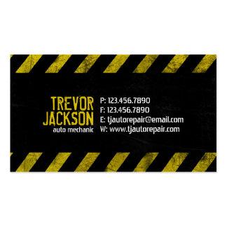 Varna randar - gult set av standard visitkort