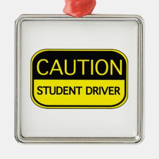 Varna studentchauffören julgransprydnad metall