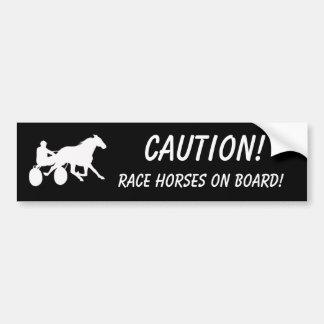 Varna! Tävlinghästar ombord! Bildekal