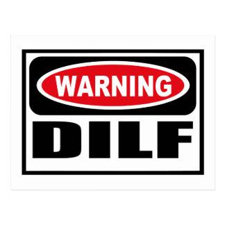 Varnande DILF-vykort Vykort