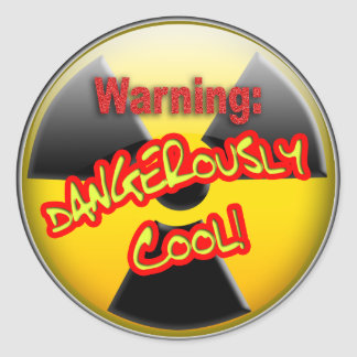 Varning: Farligt coola Runt Klistermärke