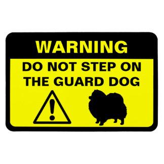 Varning för Pomeranian vakthund Rektangulära Magneter