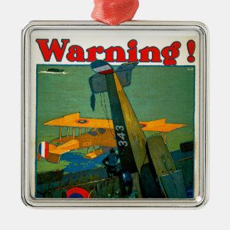 Varning! Julgransprydnad Metall