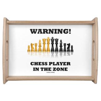Varning! Schackspelare i den zona Geekhumorn Frukostbricka