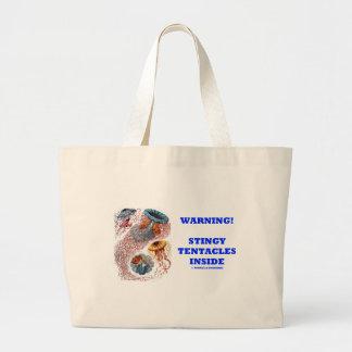 Varning! Snål tentakelinsida (manethumorn) Jumbo Tygkasse