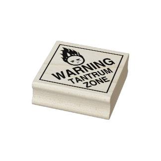 Varning - Tantrumzon Gummistämpel