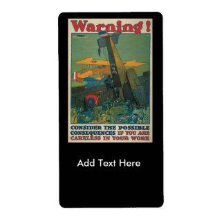 Varningsvärldskrig II Fraktsedel