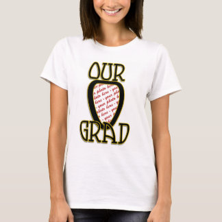 VÅRT AKADEMIKRA svart & guld skolar färgramen T Shirts