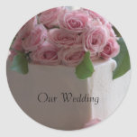 Vårt bröllop, bröllopstårtaklistermärke