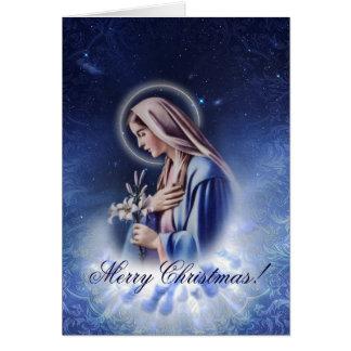 Vårt heliga kort för hälsning för Maria blåttjul