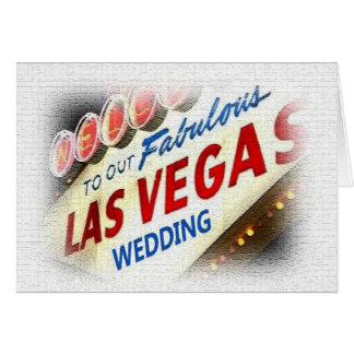 Vårt Las Vegas bröllopkort Hälsningskort
