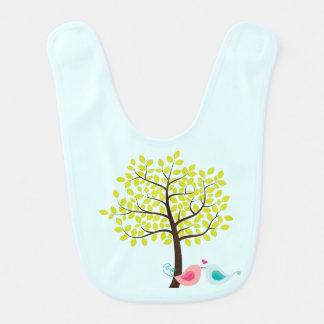 Vårträd & haklapp för baby för kyssande hakklapp