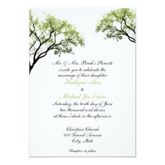 Vårträd som gifta sig inbjudan