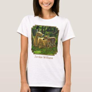 Vårwhitetailen lismar och fostrar hjort t shirt