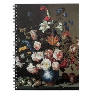 Vas av blommor vid ett fönster, Balthasar skåpbil Anteckningsbok