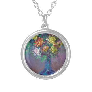 Vas av Chrysanthemums Claude Monet Silverpläterat Halsband