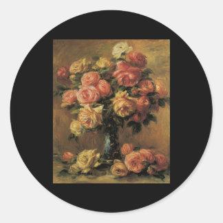 Vas för Renoir Les roDans Un Runt Klistermärke