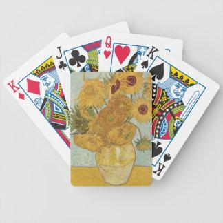 Vas med 12 solrosor - Vincent Van Gogh (1888) Spelkort