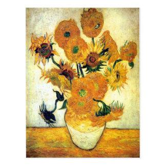 Vas med femton solrosor av Vincent Van Gogh 1 Vykort