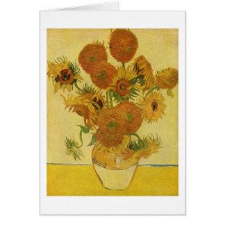 Vas med femton solrosor, Van Gogh konst Hälsningskort