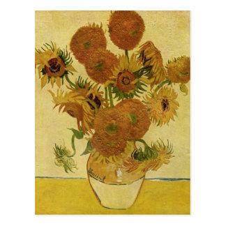 Vas med femton solrosor, Van Gogh konst Vykort