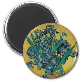 Vas med Irises av Vincent Van Gogh, vintagekonst Magnet