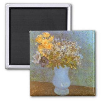Vas med lilor och daisy av Vincent Van Gogh Magnet