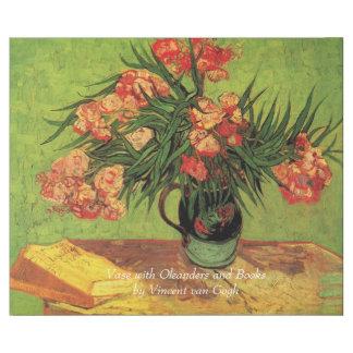 Vas med Oleanders och bokar av Van Gogh. Vintage Presentpapper