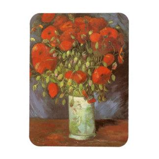 Vas med röda vallmor av Vincent Van Gogh Magnet
