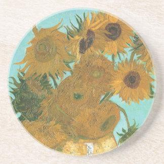 Vas med tolv solrosor av Vincent Van Gogh Underlägg Sandsten