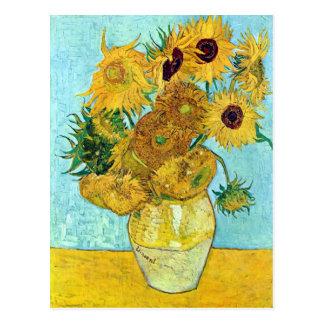 Vas med tolv solrosor av Vincent Van Gogh Vykort