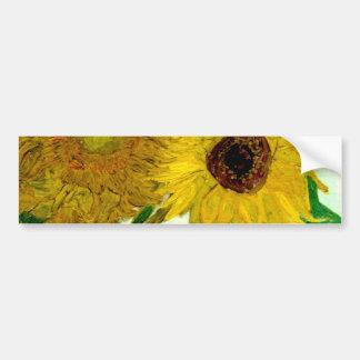 Vas med tolv solrosor, Van Gogh konst Bildekal